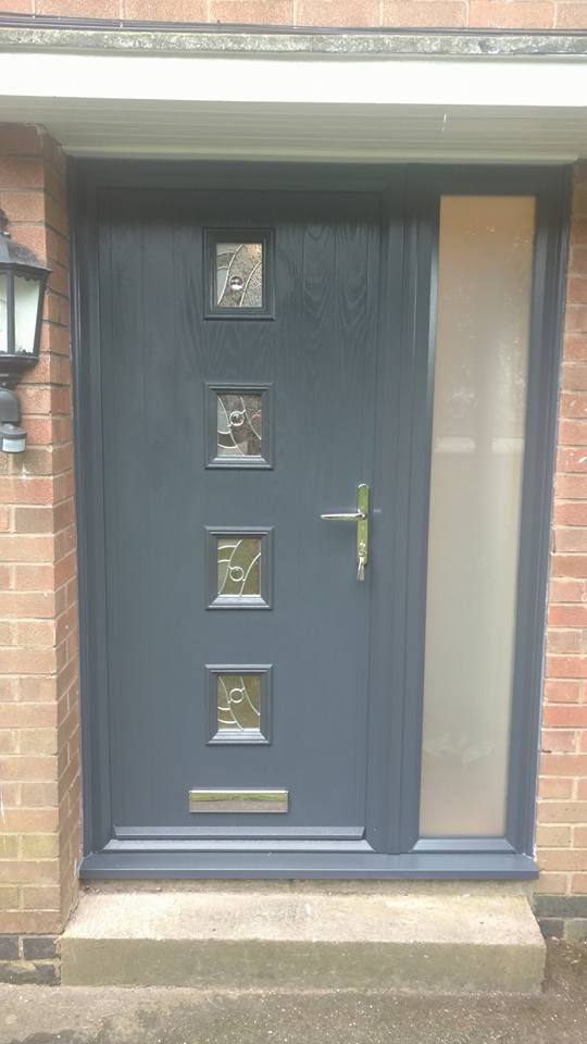 Anthracite Grey Composite Doors Installed In Huthwaite