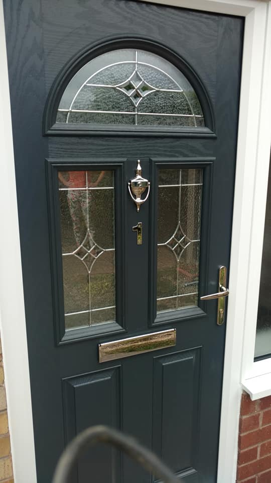 buy online 54d20 76e52 Anthracite Grey Composite Door With Triple Glazed Glass ...