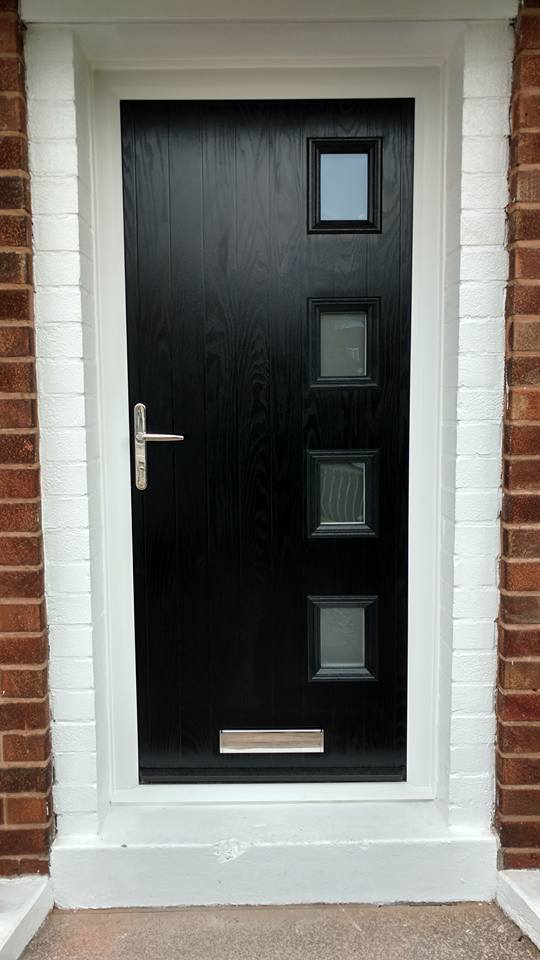 Black Composite Door Fitted In Bilsthorpe Bespoke Door