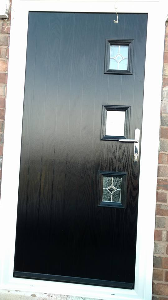 black front door fitted in Chesterfield & Black Composite Doors Fitted In Chesterfield | Bespoke Door ...