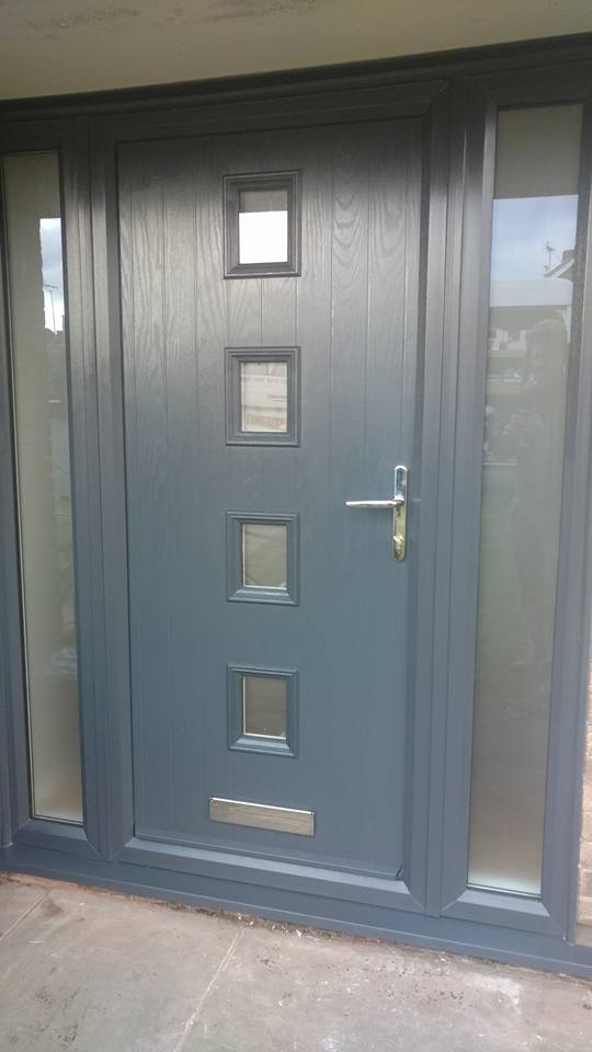 21afa6b29b8db Grey Composite Door Fitted In Meaden Vale | Bespoke Door Installations